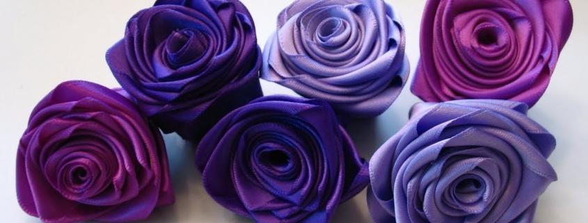 Декоративные цветы из ткани. Изготовление роз из лент