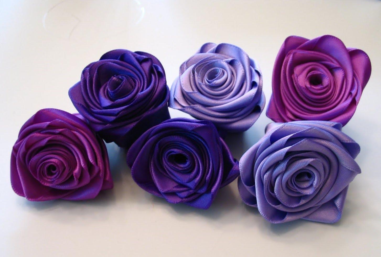 Фото цветов из лент своими руками
